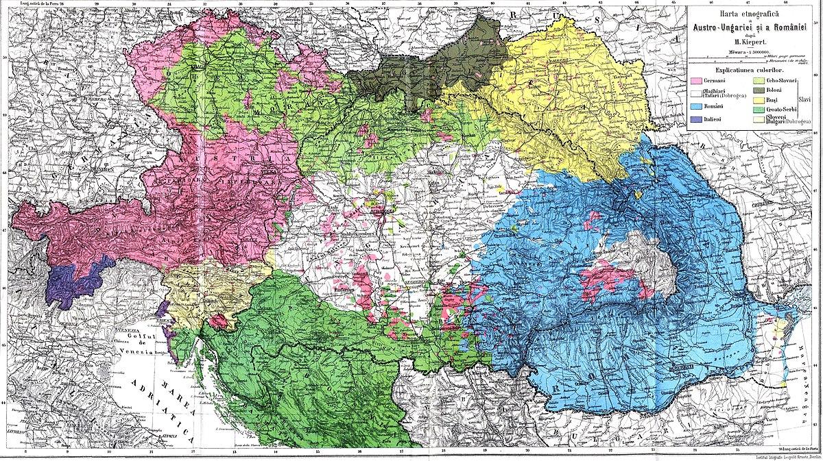 File Austro Ungaria Si Romania Harta Etnica Jpg Wikimedia Commons
