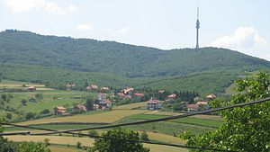 Zuce - View on Avala from Zuce