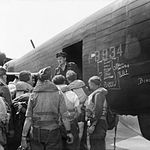 Avro Lancaster Operation Exodus Lubeck May 1945 IWM BU 5897.jpg