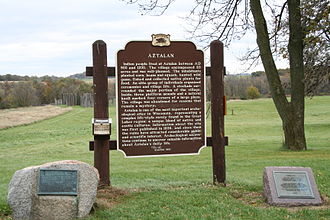 Aztalan State Park - Historic marker for Aztalan State Park
