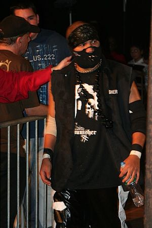 B-Boy - A masked B-Boy making his way to the ring in 2008.