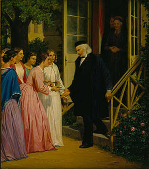 1859 in Denmark - Ingemann receiving his horn on May 28