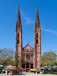 St. Bonifatius, Wiesbaden Church in Hesse, Germany