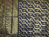 Portion of a sari woven at Sonargaon
