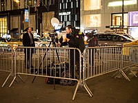 BFMTV reporting on the protest at Trump Tower 11-10.jpg