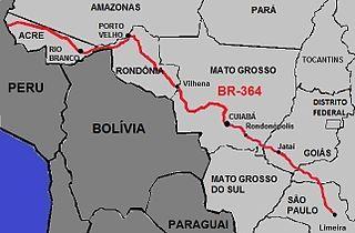 BR-364 Highway in Brazil