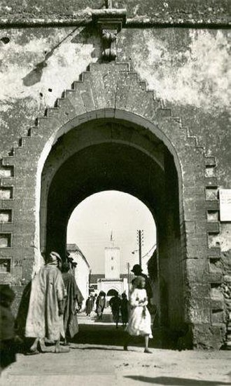 Mohammedia - The entry of the Kasbah and the Al Atik Mosque in the background
