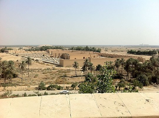 Overview of the ruins of Babylon. Babylon city Iraq.jpg