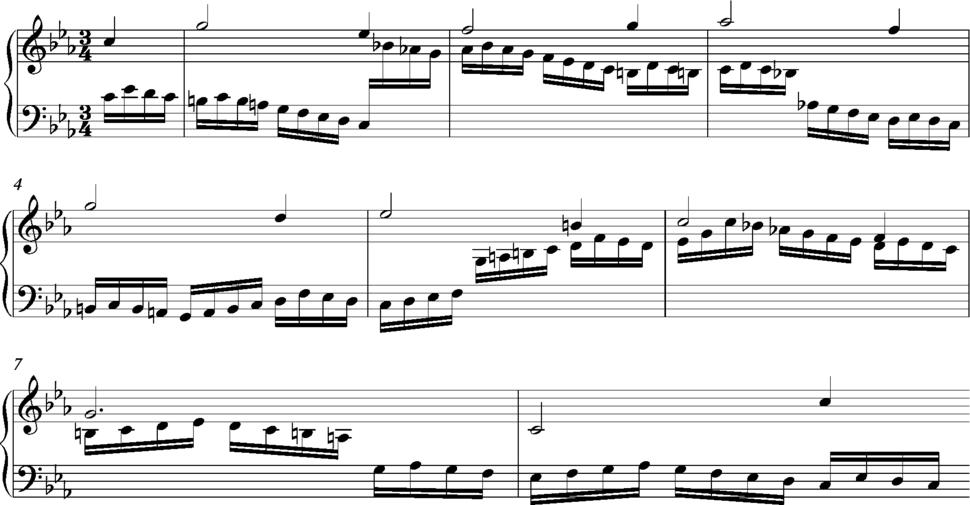 Bach C minor Passacaglia with ostinato in treble