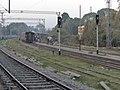 Back of the Nainital Express and approaching ASH-MLN-GD passenegr at Lucknow City - Flickr - Dr. Santulan Mahanta.jpg