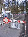Bad Kissingen - Sperrung der Zufahrtsstraße zur Spielbank wg. Hochwasser (2010).JPG