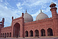 Badshahi Mosque closer view of outer wall of main hall.JPG