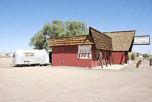 "Bagdad, California - The ""Bagdad Café"", located in Newberry Springs, California."
