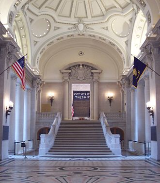 United States Naval Academy - Rotunda steps leading to Memorial Hall