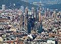 Barcelona Sagrada Familia remote view from Montjuich 02.jpg