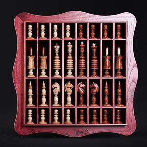 Staunton chess set - An English Barleycorn-style set