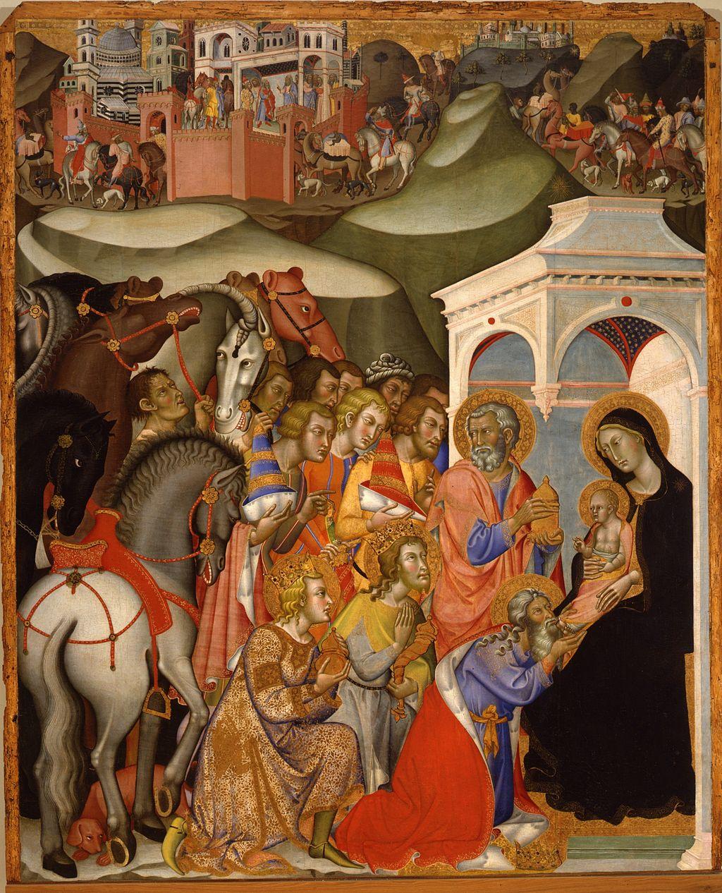 Bartolo di Fredi, Adorazione dei Magi, 1385-88, 195 ? 163 cm, tempera su pannello