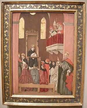 Bartolomeo degli Erri - Visione di San Paolino (Vision of Saint Paulinus by Bartolomeo degli Erri, National Gallery of Art, 1465