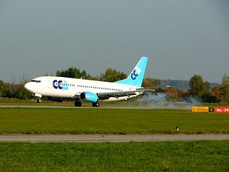 Hradec Králové Airport - Base training od B737-300 at LKHK (2010) Czech Connect Airlines