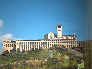 Sacro Convento Franciscan friary in Assisi, Umbria, Italy, part of the Basilica of San Francesco dAssisi