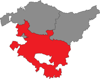 Álava (Basque Parliament constituency) - Location of Álava within the Basque Country