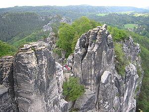 Little Switzerland (landscape) - The Bastei, Saxon Switzerland