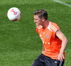 Bastian Schweinsteiger - Schweinsteiger during training in January 2013