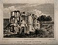 Baths of Trier, Germany; ruins. Etching by J. Poppel after L Wellcome V0014552.jpg