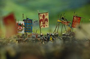Poppi Castle - A detail of the Battle of Anghiari diorama in 1:32 Scale, located in the castle crypt