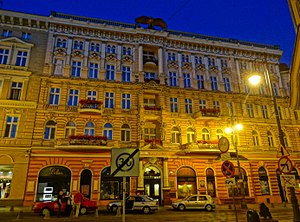 "Hotel ""Pod Orlem"" in Bydgoszcz - By night"