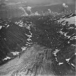 Bear Glacier, terminus of dead branch of valley glacier, and glacial dammed lake, September 4, 1977 (GLACIERS 6806).jpg