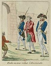 Beaumarchais auf dem Weg ins Gefängnis (1785). (Quelle: Wikimedia)