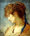 Beauvais (60), MUDO, Thomas Couture - Tête de femme au ruban bleu, vers 1873 (musée d'Orsay inv. 82.20) 2.JPG