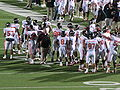 Beavers in huddle at OSU at Cal 2009-11-07 3.JPG