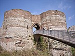 Walls, towers and gatehouse of the inner bailey at Beeston Castle