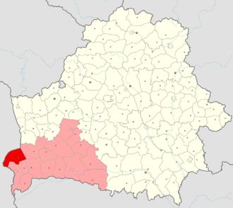 Kamenets District - location map