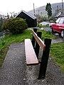 Bench in Aberangell - geograph.org.uk - 750786.jpg