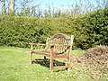 Bench in corner of Christ Church Churchyard - geograph.org.uk - 732022.jpg