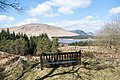 Bench with view to Merrick at Loch Dee - panoramio.jpg