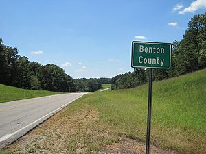 Benton County, Mississippi - Image: Benton County MS sign 002