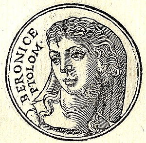 "Berenice I of Egypt - Berenice I from ""Promptuarii Iconum Insigniorum""."