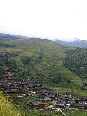 Bergdorf bei Longsheng (China) wo die Yao inmi...