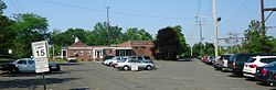 Berkeley Heights NJ police station and parking lot