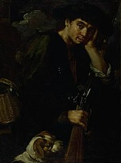 Hunter with his Gun and Dog. (Allegory of \