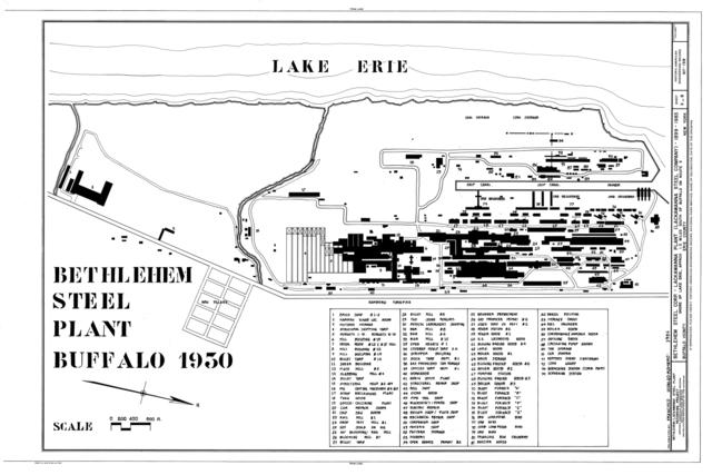 Map United States Steel Mills: File:Bethlehem Steel Plant Buffalo 1930