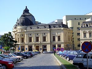 Central University Library, Bucharest - View from the south