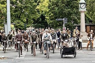 Tweed (cloth) - Bike in Tweed, Stockholm 2013