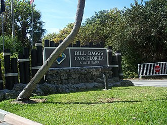 Bill Baggs Cape Florida State Park - Image: Bill Baggs SP sign 01