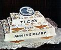 Birthday cake for the 25th anniversary of the commissioning of USS Ticonderoga (CVA-14) 1969.jpg