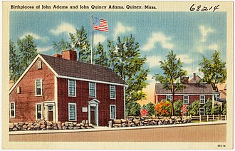 John Adams Birthplace - Image: Birthplace of John Adams and John Quincy Adams, Quincy, Mass (68214)